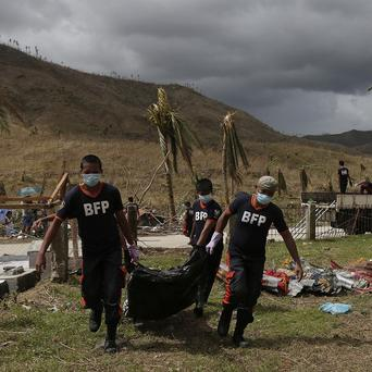 The official death toll from Typhoon Haiyan has risen by three to 2,360 in the Philippines