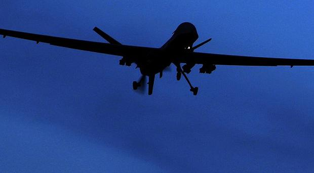 A suspected US drone carried out a missile strike in north-west Pakistan