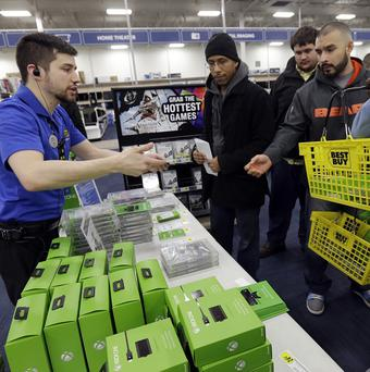 First-day sales of the Xbox One console have eclipsed the million mark. (AP Photo/Nam Y Huh)