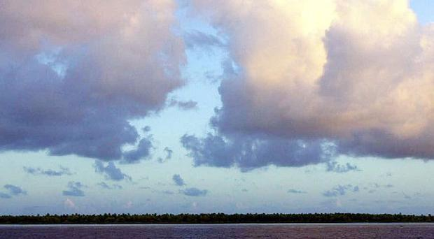 Millennium Island, Kiribati in the South Pacific, one of the lowest-lying nations on Earth (AP)