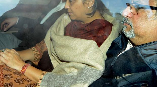 Rajesh Talwar, right, and his wife Nupur, have been jailed for life. (AP)