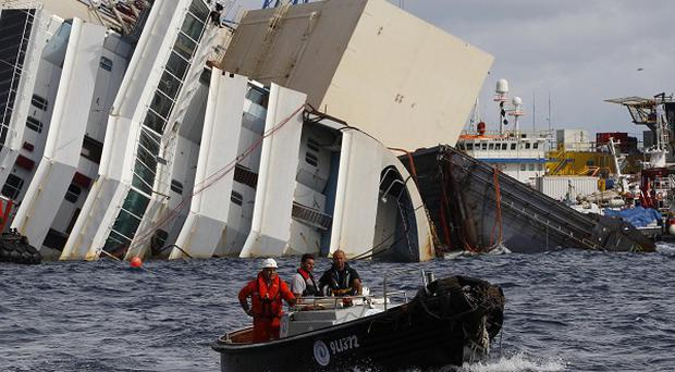 The Costa Concordia trial has heard hundreds of people were still on board when the captain fled the sinking ship (AP)