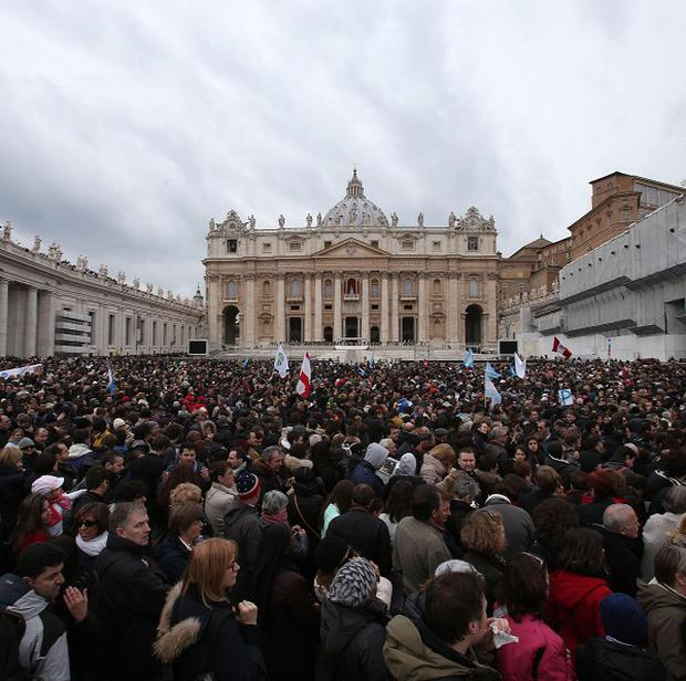 St Peter's Square where a man set himself ablaze with petrol.