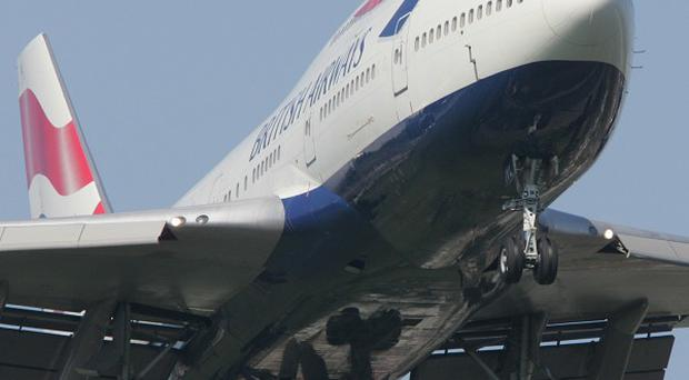 The wing of a British Airways passenger aircraft clipped a building at Johannesburg's OR Tambo International Airport shortly before taking off for London