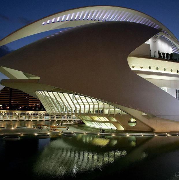 Valencia's Opera House is shut after being damaged by strong windsh (AP)