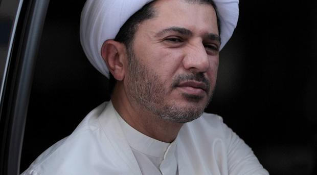 Al Wefaq said it considers its leader, Ali Salman, to be under arrest (AP)