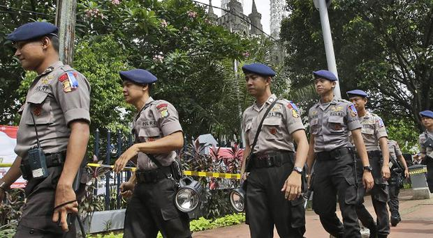 Security has been stepped up in Indonesia over the festive period in a bid to thwart terror attacks.