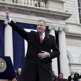 Bill de Blasio has become New York City's first Democrat mayor in nearly 20 years. (AP)