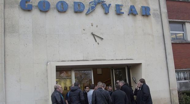 Two bosses have been taken captive by workers at the Goodyear tyre factory in Amiens, northern France