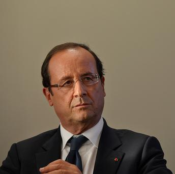French president Francois Hollande is considering legal moves over claims he had an affair with an actress.