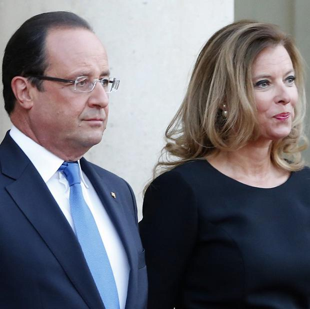 French president Francois Hollande and Valerie Trierweiler (AP)