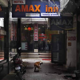 A 51-year-old Danish tourist who lost her way and asked for directions back to this hotel in New Delhi, India, was gang-raped (AP)