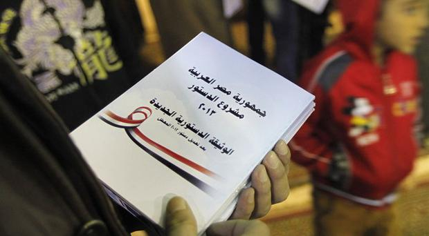 Egypt's new constitution has been the subject of a national referendum