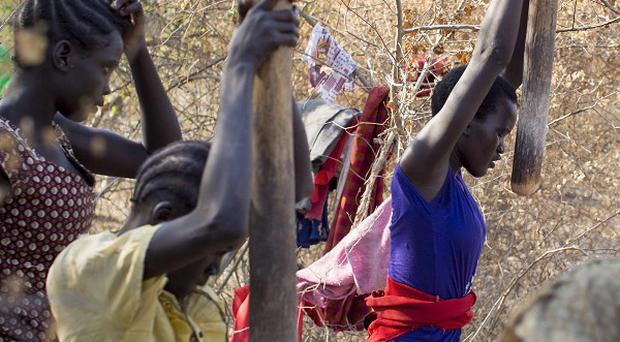 Leaders for opposing sides in South Sudan's internal conflict, which has seen thousands displaced, said they are close to signing a cease-fire (AP)
