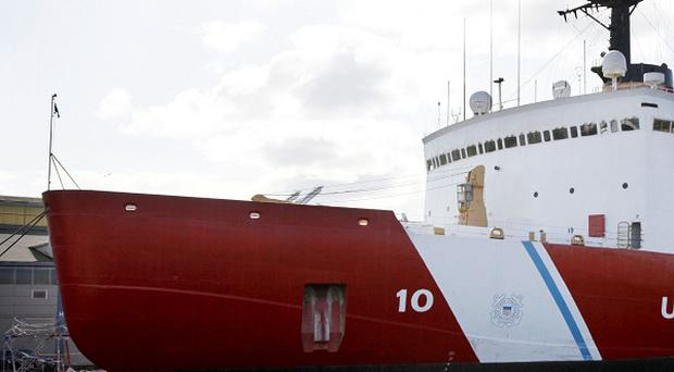 The US Coast Guard icebreaker Polar Star was sent to assist both ships, but they had managed to free themselves before it arrived on the scene (AP)