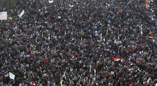 Tahrir Square in Cairo, Egypt was the scene of huge protests.