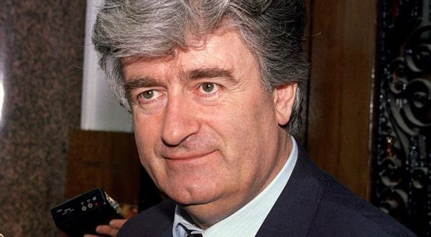 General Ratko Mladic is giving evidence as a defence witness for his former political master Radovan Karadzic, pictured