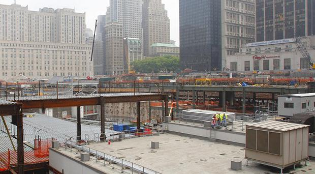 The Ground Zero site of the September 11 2001 terror attack in New York.
