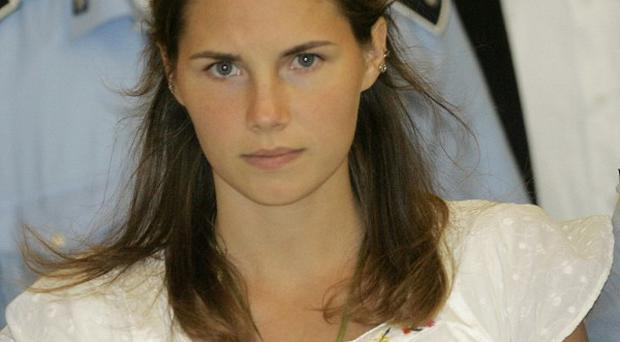 Amanda Knox in court in Perugia, Italy, during a previous hearing