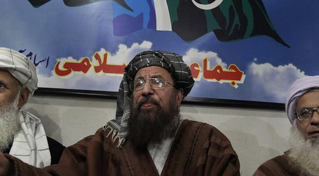 The three-member committee was appointed by the Pakistani Taliban to hold peace talks with Pakistan (AP Photo/Anjum Naveed)