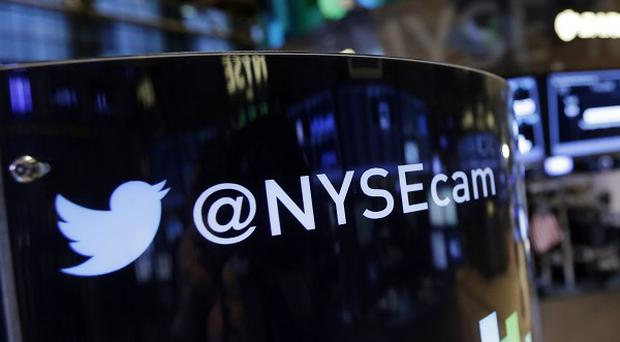 Twitter's shares dropped on Wall Street when it unveiled its first results as a public company (AP)