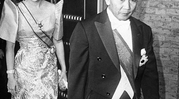 Former Philippines dictator Ferdinand Marcos and wife Imelda