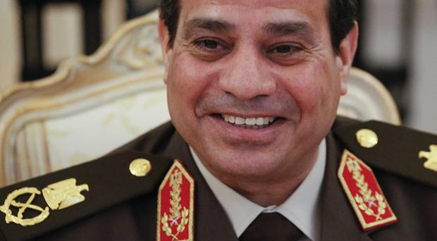 Egypt's military chief Field Marshal Abdel-Fattah el-Sissi during talks in Moscow (AP)