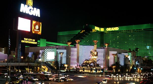 The famous strip in Las Vegas, where the couple had been due to spend their holiday