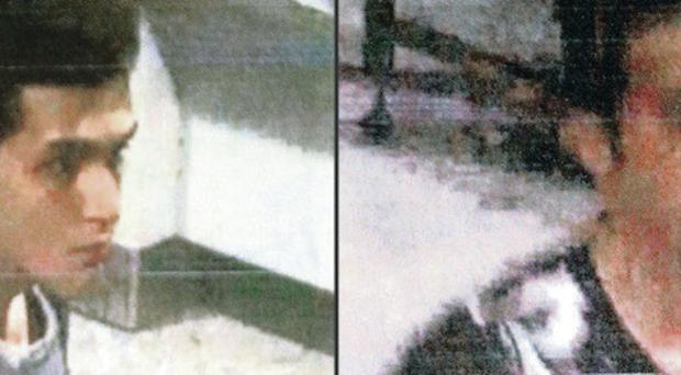 Mehrdad and Mohammadreza caught on airport camera