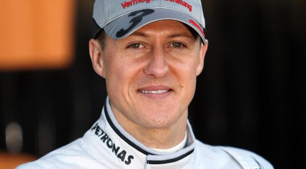 Michael Schumacher was taken to hospital after a ski crash in the French resort of Meribel in December.