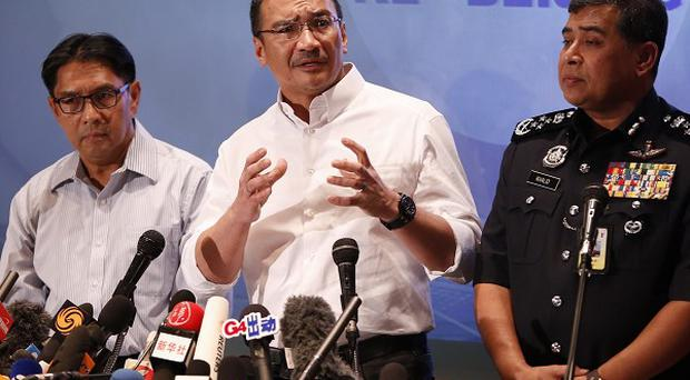 Malaysia officials at a press conference regarding missing Malaysia Airlines jetliner MH370 (AP)