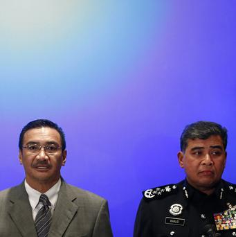 Malaysian officials giving their latest briefing (AP)