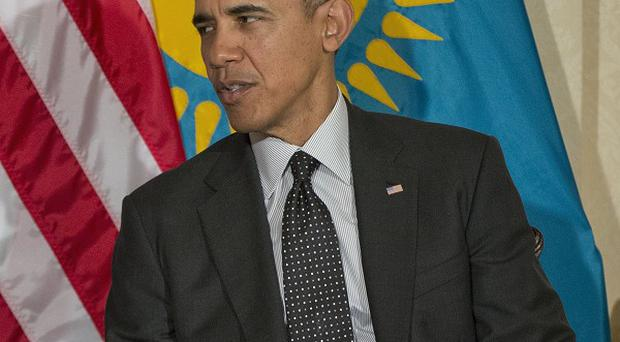 Barack Obama at the nuclear summit in The Hague, Netherlands (AP)