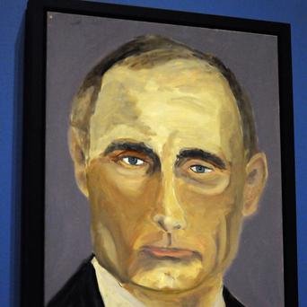 Russian president Vladimir Putin as painted by former US president George W. Bush.