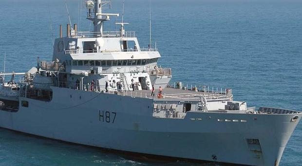 HMS Echo is playing a key part in the search for missing Malaysia Airlines flight MH370 (Royal Navy/PA)