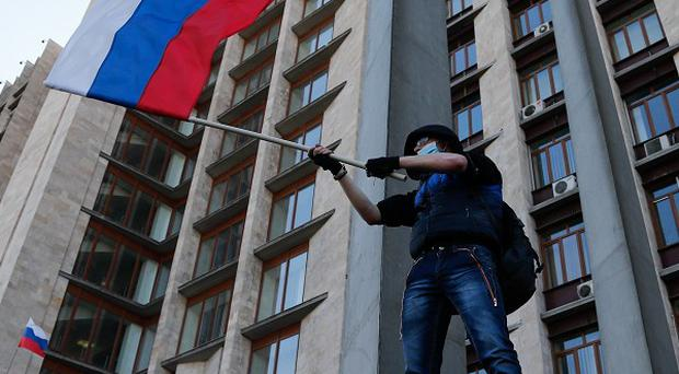 Pro-Russian activists seized an administration building in Donetsk, Ukraine (AP)