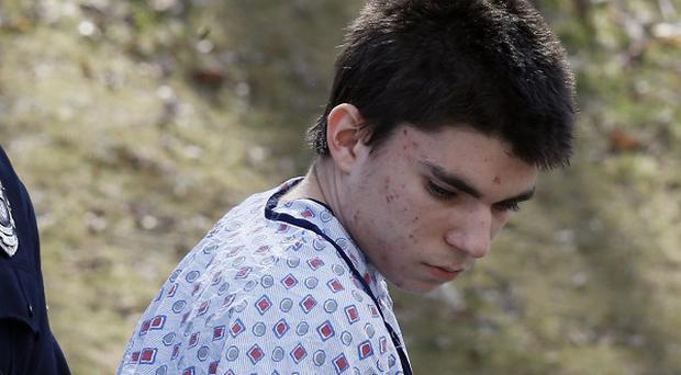 Alex Hribal, 16, is taken to court after the stabbing rampage at Franklin Regional High School (AP)