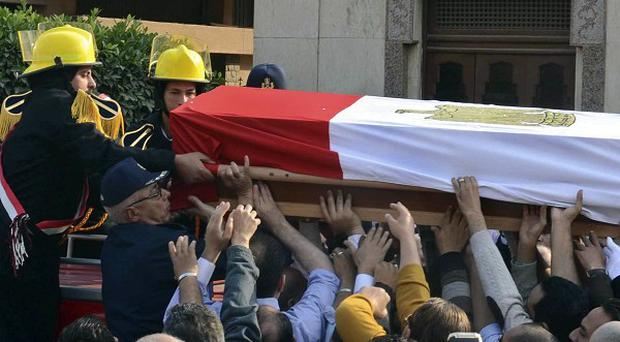 The deaths came amid stepped-up attacks against Egyptian police and military as militant groups wage an increasingly violent campaign (AP)