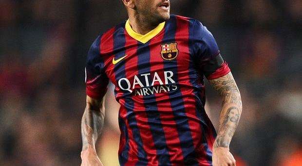A banana was thrown at Dani Alves as he played for Barcelona
