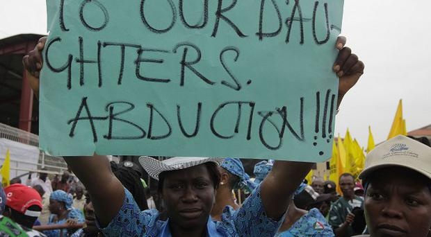 Women in Nigeria have been attending demonstrations calling on the government to rescue the kidnapped schoolgirls (AP)