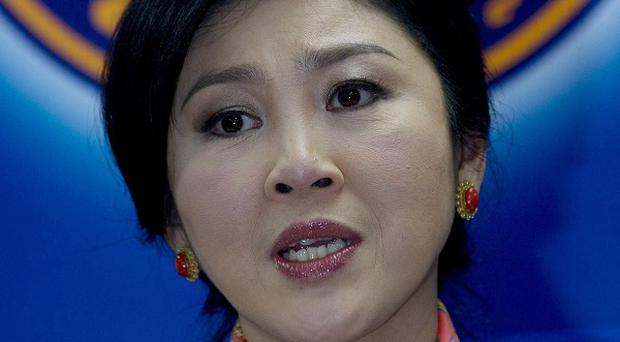 Yingluck Shinawatra has been indicted on a corruption charge (AP)