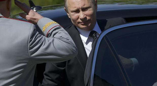 Russian president Vladimir Putin has joined in events to mark Victory Day (AP Photo/Ivan Sekretarev)
