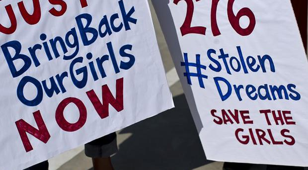 South Africans protest in solidarity against the abduction of the Nigerian schoolgirls (AP)