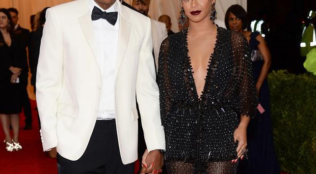 Jay Z and Beyonce at The Metropolitan Museum of Art's Costume Institute benefit gala in New York last week (AP)