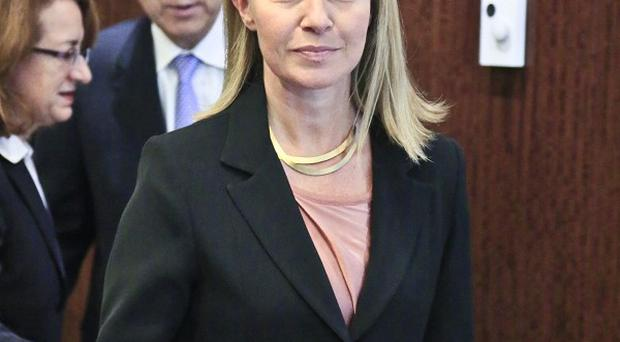 Federica Mogherini has been raising the case of Meriam Ibrahim at the UN headquarters in New York (AP)