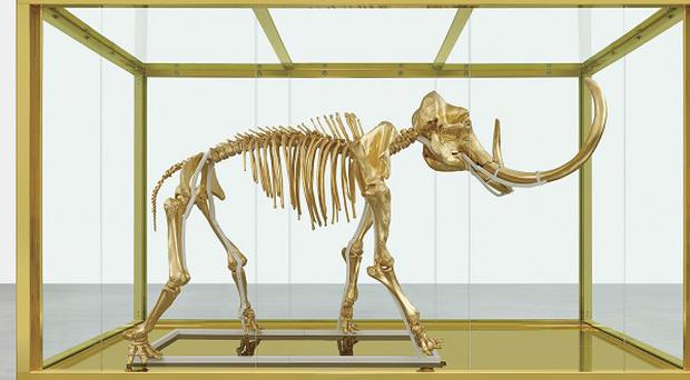 Damien Hirst's latest piece, Gone But Not Forgotten, will be auctioned for charity (AP/Prudence Cuming Associates)