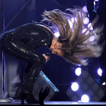 Jennifer Lopez performing at the Billboard Music Awards in Las Vegas (AP)