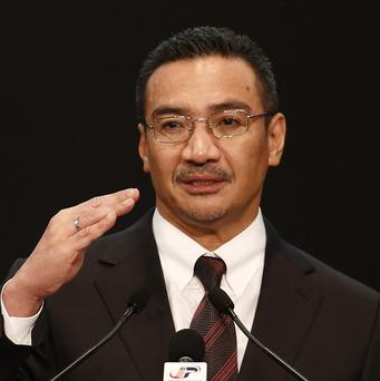 Hishammuddin Hussein said the missing plane was not initially deemed a threat, so fighter jets were not scrambled (AP)