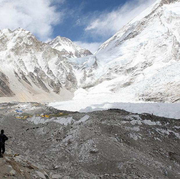 The April 18 avalanche that swept the route near the base camp killed 16 Sherpa guides.
