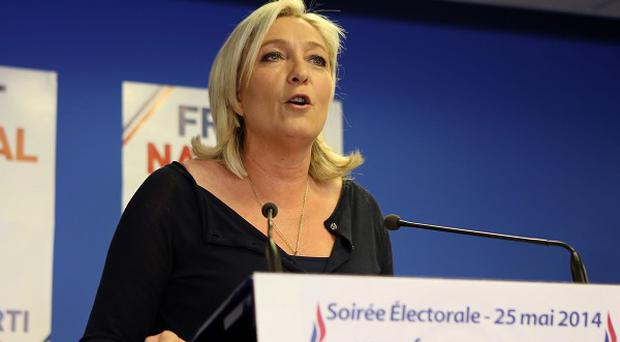 Far right party National Front leader Marine Le Pen is the outright winner in France with one-quarter of the popular vote
